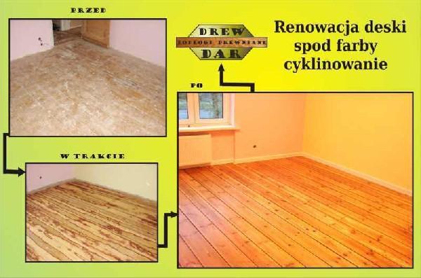 Renowacja Deski Spod Farby Olejnej Z Wykończeniem (cyklinowanie) Drew-dar
