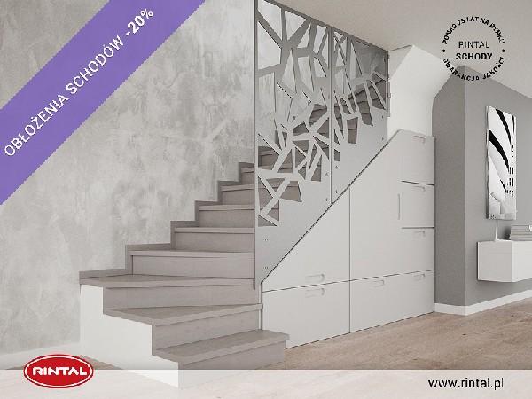 Rintal Polska, wiodący producent SCHODÓW do wnętrz organizuje PROMOCJĘ: OBŁOŻENIE SCHODÓW BETONOWYCH  DO 20% TANIEJ ! Szczegóły oraz wzbogacona o nowe modele schodów oferta Rintal dostępne są na stronie www.rintal.pl. Umów się na BEZPŁATNY POMIAR! e-mail: k.prabucka@rintal.pl tel. Dział Handlowy: +48 58 532 42 55